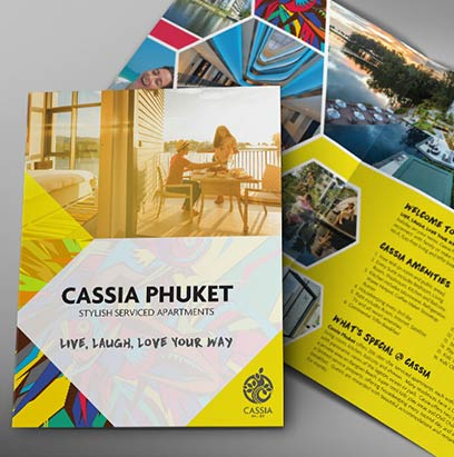 Cassia Phuket - Brochure Design, Poster Design, Billboard Design & Roll Up Banner Design