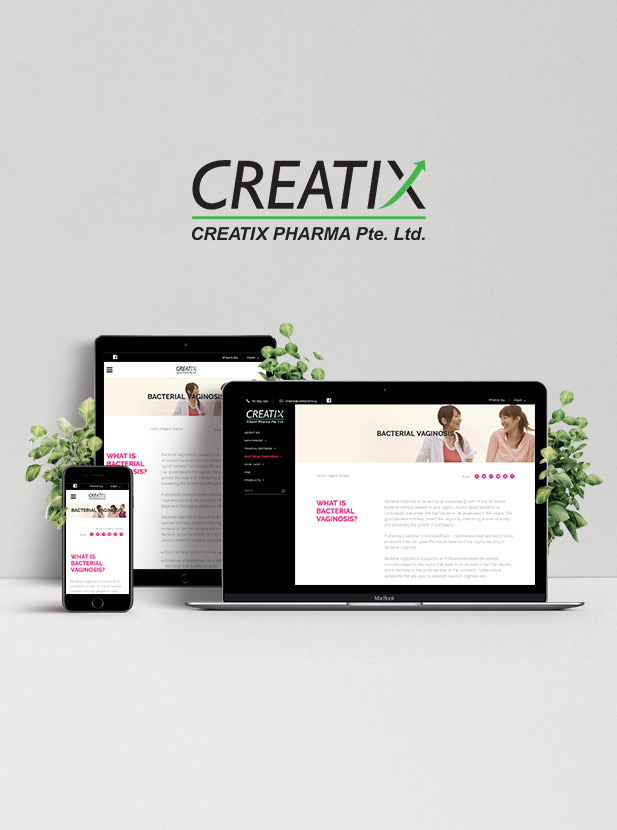 Creatix Pharma - Responsive Website Development