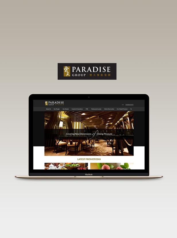 Paradise Group - Responsive Website UI Design