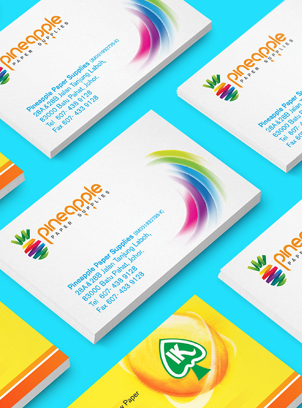 Pineapple Paper Supplies - Brand Logo Design, Business Card Design & Flyer Design