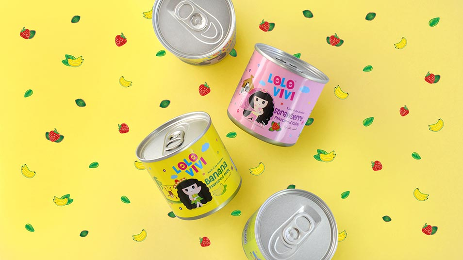 Lolo Vivi Milk Range - Brand Logo Design, Packaging Design, Mascot Design