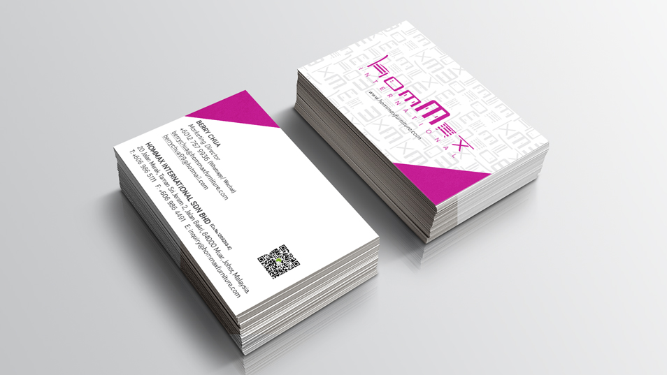Hommax Furniture - Business Card Design, Stationary Design, Folder Design, Flyer Design, Products Catalogue, Products Brochure