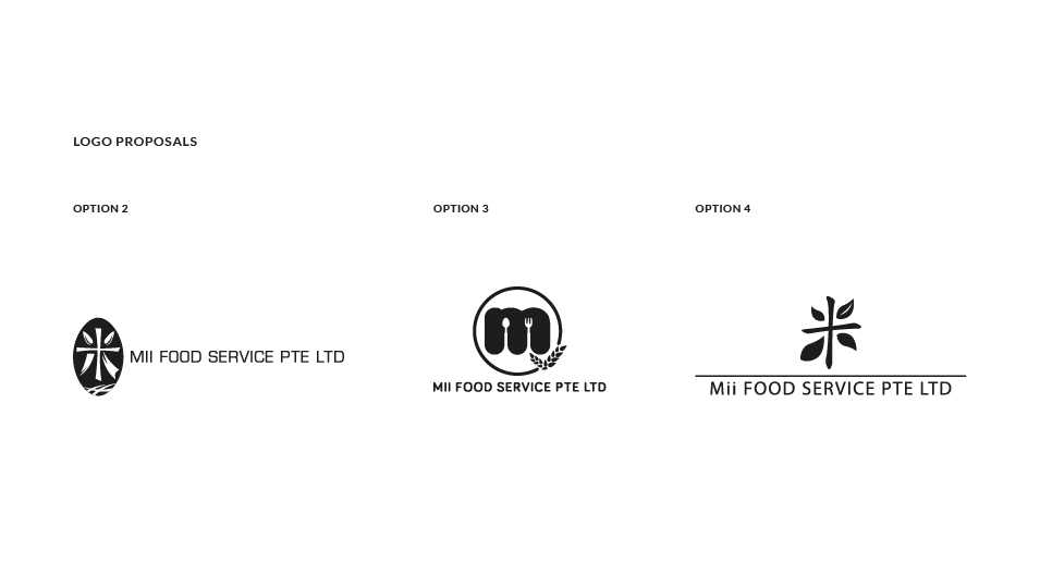 Mii Food Services - Brand Logo Design, Business Card