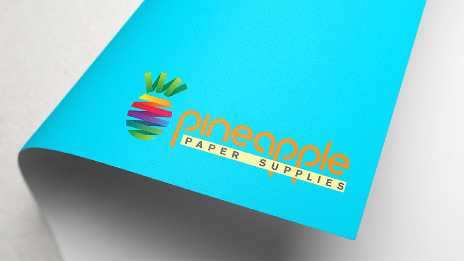 Pineapple Paper Supplies - Brand Logo Design, Business Card Design, Flyer Design