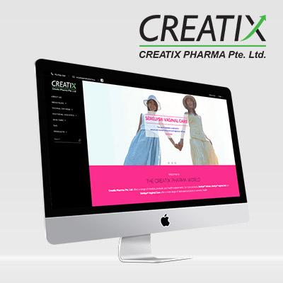 Creatix Pharma - Responsive Website Development
