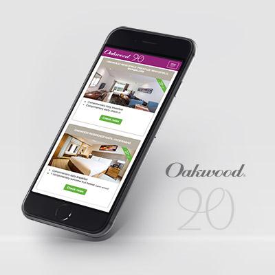 Oakwood Asia Pacific 20th Anniversary microsite - responsive website development