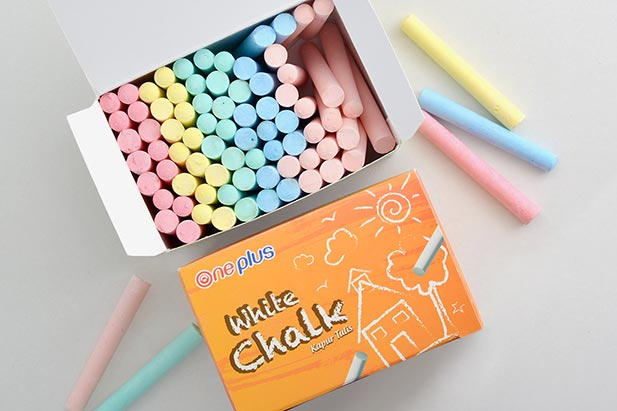 One Plus Stationary White Chalk - Packaging Design