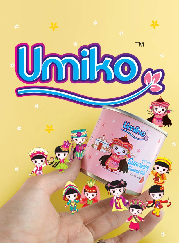 Umiko Milk Range - Brand Logo Design, Packaging Design & Mascot Design