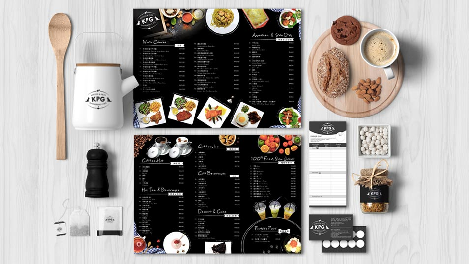 Koffee & Pets Gathering Cafe - Brand Logo Design, Signage Design, Menu Design, Business Card Design, Member Reward Card Design
