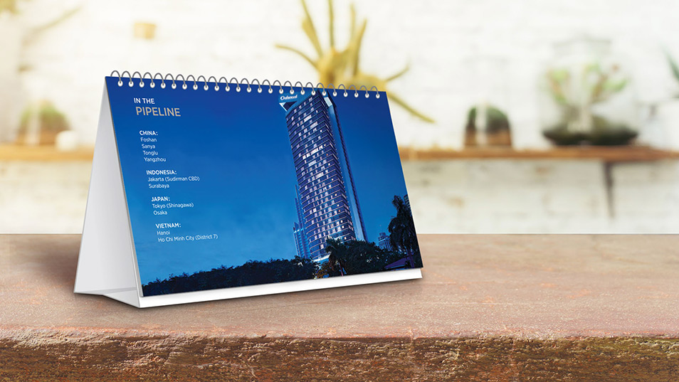 Oakwood Asia Pacific - Calendar Design