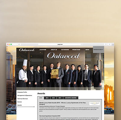 Oakwood Asia Pacific - Responsive Website Development