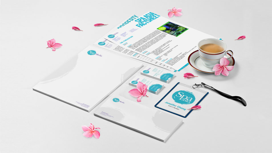 Spa Asia - Brand Logo Design, Stationary Design, Marketing Kit Design