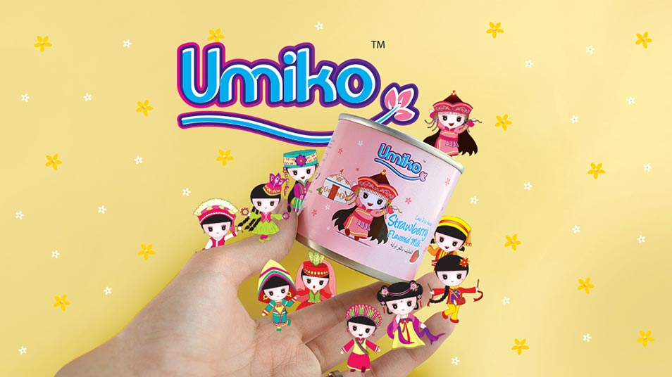 Umiko Milk Range - Brand Logo Design, Packaging Design, Mascot Design