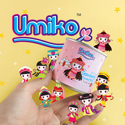 Umiko Milk Range - Brand Logo Design, Packaging Design, Mascot Design