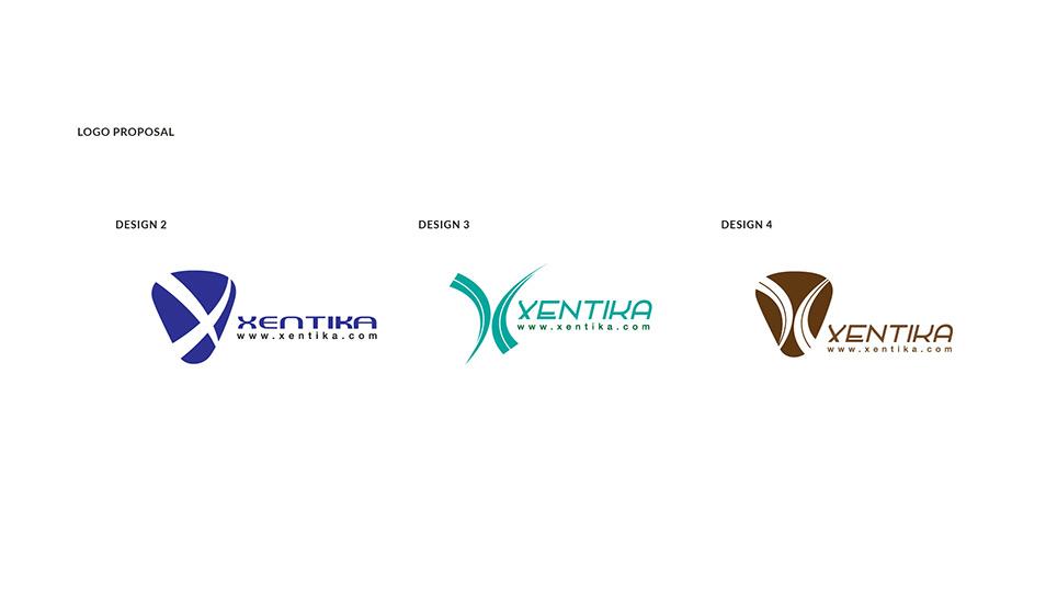 xentika - brand logo design