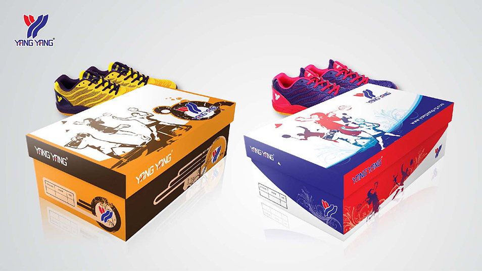 Yang Yang - Shuttlecock Tube Design, Shoe Box Design, Product Catalog Design
