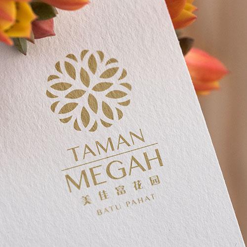 Taman Megah - A4 Flyer Design, 3 Folded Brochure Design, Signboard Design, Banner Design & Direction Board Design