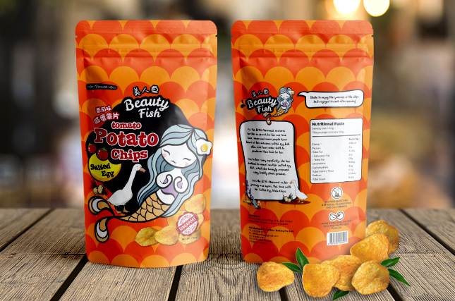 Beauty Fish Potato Chips - Packaging Design